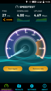 Speedtest di Pondok Aren